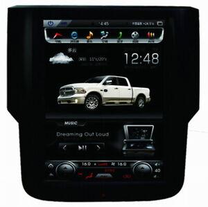 "Ouchuangbo 10.4"" tesla for Dodge RAM 1500 2500 3500  2014-2018 audio gps 4+64"