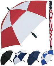 48� Arc Double-Canopy Golf Fiberglass Umbrella - RainStoppers Rain/Sun Uv