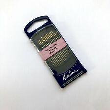 PONY SIZE 5/10 SHARPS HAND SEWING NEEDLES GOLD EYE PACK OF 20 BRAND NEW