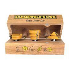 Sommerfelds Tools 3 Piece Glue Joint Bit Set for wood 03006 custom hardwood case