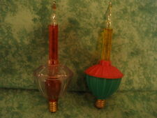 VINTAGE BUBBLE LIGHT REPLACEMENT LAMPS~2~CHRISTMAS~C-7~TESTED