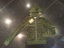 NWT Juicy Couture New & Gen. Ladies Small Green Velour Hoody With Diamanté Logo