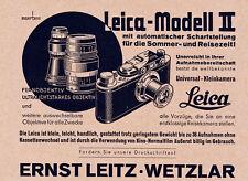 1932 Leica Kamera Modell II Autom. Scharfstellung 14x12 cm original Printwerbung