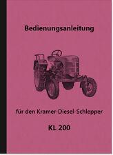 Kramer KL 200 Manuale Manuale Manuale di istruzioni kl200 TRATTORI