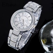 Geneva Women's Stainless Steel Case Round Wristwatches