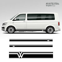 Volkswagen VW Transporter Side Stripe Decals  T4 T5 T6 Campervan Vehicle Graphic