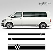 VOLKSWAGEN VW TRANSPORTER Side Stripe decals T4 T5 T6 Camping-Car Véhicule Graphique