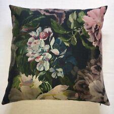 "Designers Guild Fabric Cushion Cover DELFT FLOWER GRAPHITE - 20"""