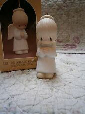 Precious Moments Ornament Let the Heavens Rejoice 1981 Boy Angel 1981 Rare