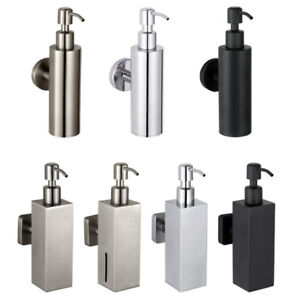 200ML Bathroom Bath Soap Dispenser Holder Liquid Shampoo Bottle Wall Mounted SUS