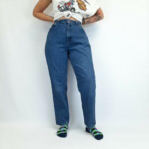 Vintage High Waisted Mom Jeans Blue 30W 29L
