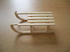 Schlitten Holzschlitten / Wooden Sledge Dollhouse Puppenstube 1:12 Art 6187