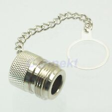 1pce Dust cap with chain for N female RF connector