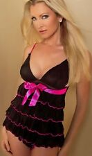 Caprice Sexy Baby Doll court Negligee Chemise de nuit courte Small UK 8/10 RRP £ 36