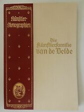 Die Künstlerfamilie Van de Velde Künstlermonographien Knackfuß Manteuffel