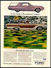 1963 Ford Country Squire Thunderbird Wagon Vintage Print Ad