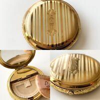 1930s Sorority Elgin American Round Makeup Powder Compact