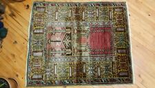 "Vintage 1940-1950s Turkish Tribal Rug 3'8"" x 4'4"""