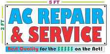 AC REPAIR & SERVICE Banner Sign NEW Larger Size Best Price on the Net!