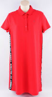 TOMMY HILFIGER Women's Short Sleeve Polo Dress with Side Tapes, Red, size S