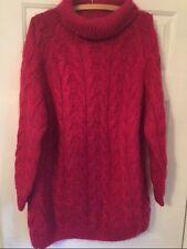 Handknitted C.Ie Internationale Express Women'S Red Sweater /Dress,Size M