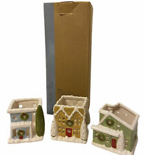 Partylite Village Square Tealight Trio Set P91243 Retired Original Box