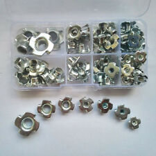 80PCS M3 M4 M5 M6 M8 M10 Claw Type Nut Nuts Assortment Kit Set