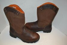 Men Timberland Pro 87559 EXCAVE WELLINGTON 10.5 M Brown STEEL Toe Work Boot Shoe