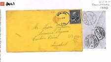 DA163 1889 USA California Sonoma to Switzerland Cover Transatlantic
