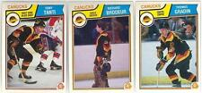 9 1983-84 OPC HOCKEY VANCOUVER CANUCKS CARDS (TANTI RC/BRODEUR+++)