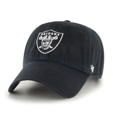 Los Angeles Oakland Raiders 47 Brand Clean Up Black Adjustable Field Hat Cap NFL