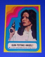 1977 Topps Charlie's Angels Series 3 Sticker #31 'Gun-Toting Angel' Jaclyn Smith