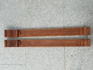 Antique handcrafted decorative strips made of walnut, made around 1900