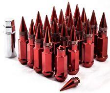 "20"" 12X1.25 Aodhan XT92 SPIKED Lug Nuts Red FIT INFINITI G25 G35 G35 G37 I35"