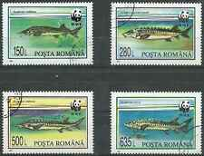Timbres Poissons Roumanie 4200/3 o lot 1345