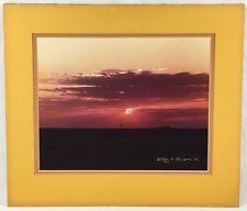 Don K. Langson Photography Artist Signed Picture Framed Photo Sunset Landscape