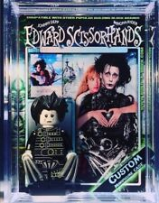 Edward Scissorhands Custom Mini Action Figure w Case & Lego Stand 401 Minifigure