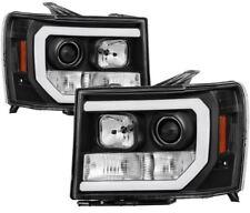 Spyder Projector Headlights - Light Bar DRL LED - Black for 2007-2013 GMC Sierra