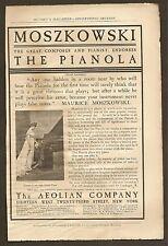 VINTAGE (1899) AEOLIAN PIANOLA COMPANY AD FROM MUNSEY'S MAGAZINE