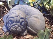 """Latex with plastic backup pug dog mold concrete plaster mould 5"""" x 4"""" x 2"""""""