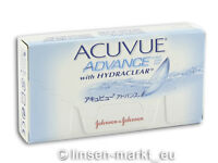 Acuvue Advance HYDRACLEAR  BC 8.3  1×6 Non-Stop-Linsen 2-Wochenlinsen Neu&OVP