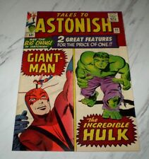 Tales to Astonish #60 NM 9.4 OW pages 1964 Marvel Giant-Man & Hulk begins