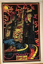 Vintage Blacklight Poster Medieval Days Pin-up Castle Pin-up 1970's Lalo Uv Neon
