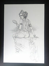 Superbe Ex Libris DELABY crayonné Pin Up Signé et Numéroté 125 ex ETAT NEUF