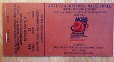 2003 NCAA DIvision I Mens Basketballl 1st & 2nd Round, Indianapolis Tickets