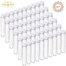 DEPEPE 60 Pcs 13x75mm Clear Mini Plastic Test Tubes with Caps (6ml), for Scie...