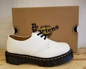 Dr Martens 1461 Bex Smooth White Leather Oxford Lifestyle Shoes for Women