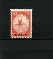 """1912 German Reich - 10 pf. """" Rhein und Main Air """"  E.EL.P. Mi.Nr. V SIGNED MNH"""