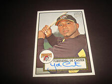 Yurendell De Caster Pirates 2006 Topps '52 RC #52S-YD Signed Certified Auto 920