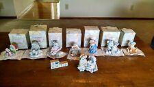 Lot 8 Calico Kittens Enesco figurines Patricia Hillman 1992, 1993, 1994, 1995